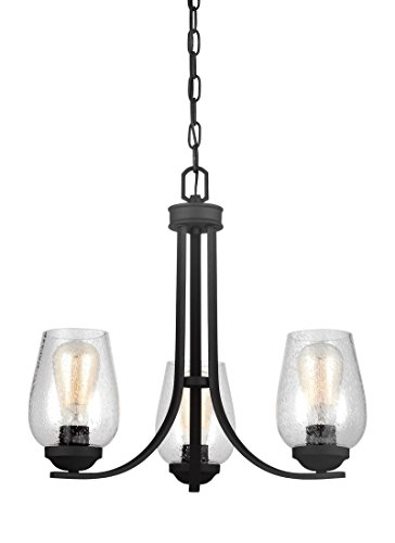 Sea Gull Lighting 3127803-839 Chandelier, Three Light, Black