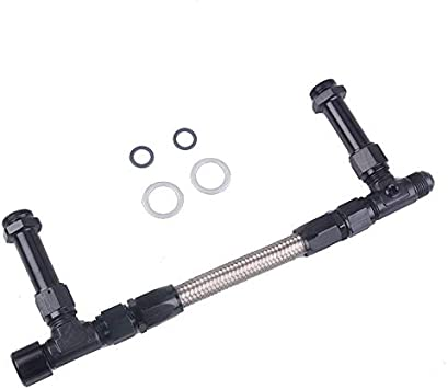 Stainless Steel Braided 8 AN Dual Feed Fuel Line Kit for Holley 4150 Carburetor