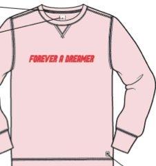 Forever Adult Sweatshirt (Rebel Canyon Unisex Adult Forever a Dreamer Unisex Sweatshirt XX-Small Pink)