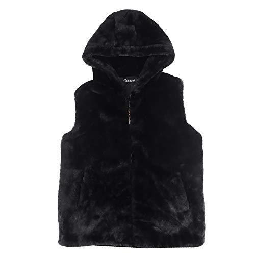 Zicac Men Faux Fur Vest Jacket Sleeveless Winter Body Warm C