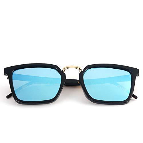 Black Color de Blue Aluminium Soleil Frame Frame pour polarisées Femmes Lunettes Lens Black de en Lunettes Lens Blue Soleil LiShihuan Les Vintage 6pCqO