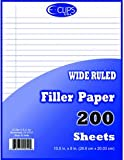 DDI - Binder Filler Paper - 200 sheets - WR-10.5'' x 8'' (1 pack of 36 items)