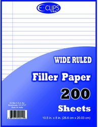 DDI - Binder Filler Paper - 200 sheets - WR-10.5'' x 8'' (1 pack of 36 items)