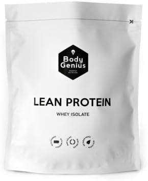 Body Genius Smarter Nutrition Lean Protein, Whey Isolate, Proteína en Polvo con Stevia, Vitaminas y MineralesDulce Cacao - 500 g