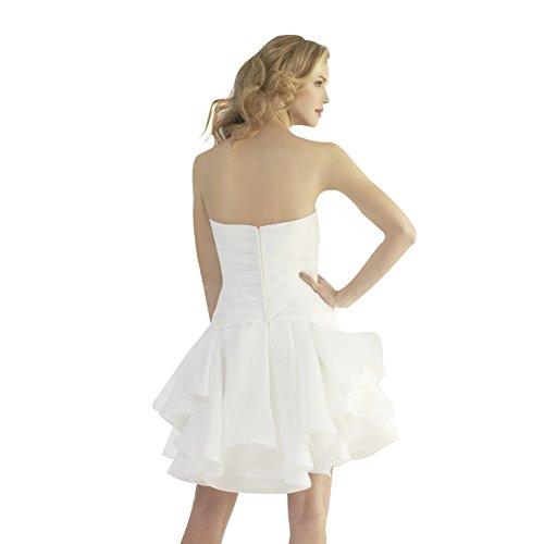 Schatz GEORGE BRIDE Kurze Applikationen Perlen Weiß Brautkleider mit Hochzeitskleider wFBERF