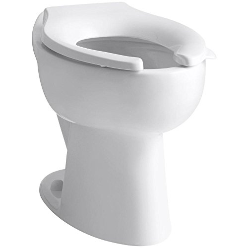 KOHLER K-4301-0 Highcrest Elongated Toilet Bowl with Rear Spud, White (Bowl Only) - Highcrest Toilet Bowl