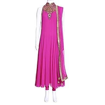 Kalaniketan Pink Festive Kurta & Churidar Set For Women