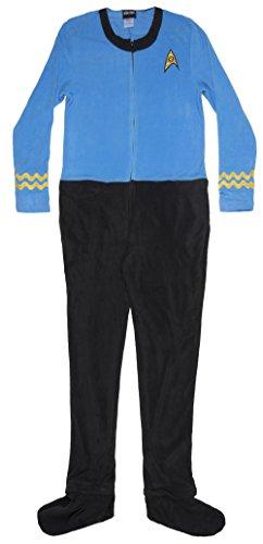 Star Trek Men's Blue Uniform Union Suit (Adult X-Large) -