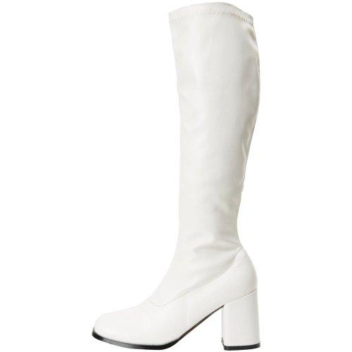 para Funtasma 300 Blanco Botas GOGO Brillante Mujer RC7HSx