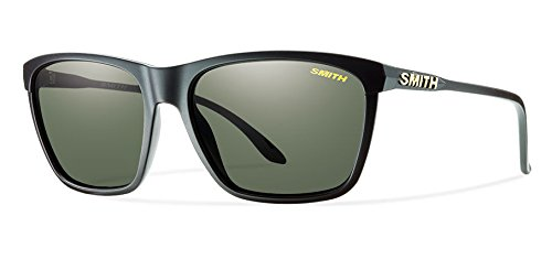 Smith Optics Smith Delano Sunglasses, Matte Black Frame, Carbonic Polarized Gray green Lens, Gray - Sunglasses Smith Com