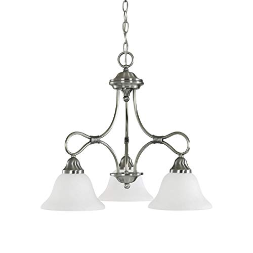 Chandeliers 3 Light Fixtures with Antique Pewter Finish Medium Bulb Type 22