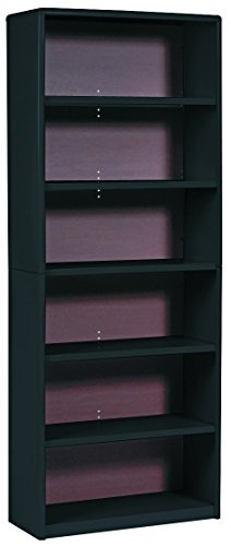 Safco Products 7174BL ValueMate Economy Bookcase, 6-Shelf, Black (Bookcase Metal 6 Shelf)