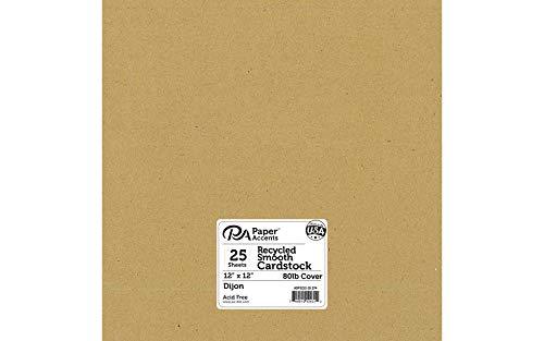 (Cardstock 12 x 12 in. Recycled Dijon (25 sheets))