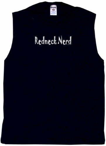 Redneck Nerd Men's Tee Shirt XL-Black Sleeveless