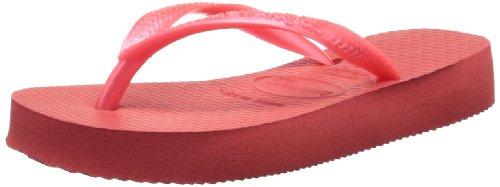 Havaianas Slim Flip Flop (Toddler/Little Kid), Guava Red, 31-32 BR(2 M US Little Kid)