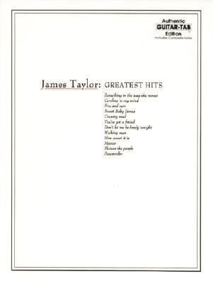[(James Taylor: Greatest Hits - Authentic Guitar Tab Edition)] [Author: Jo Novark] published on (March, 1997)