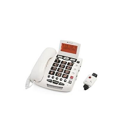 Transparente sonidos cls-csc600er amplificada SOS alert teléfono ...