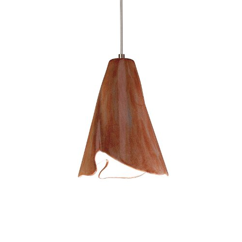 Flora 1 Light Pendant - Flora 1 Light Mini Pendant Finish: Spice, Canopy and Transformer: With