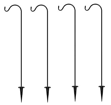 Shepherdu0027s Hooks Garden Stakes, Set Of 4   BEST Lawn Stakes For Décor   Hang