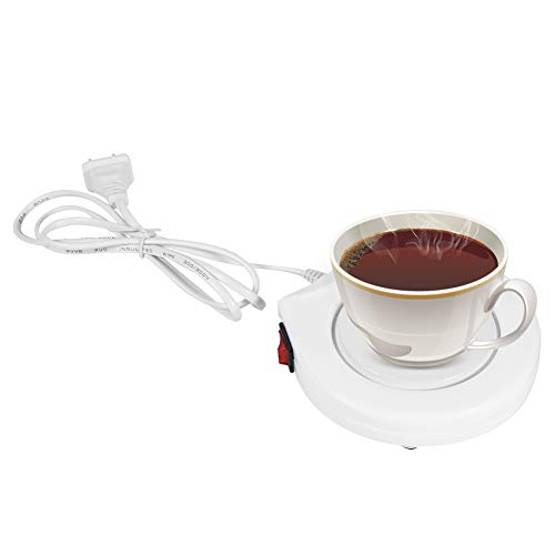 Zerodis Taza de café Calentador eléctrico Calentador de la Taza de café Calentador Calentador Cojín Placa Bebida Taza...