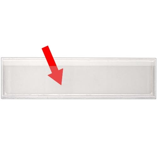 StoreSMART - Peel & Stick 1'' x 4'' Shelf Tag/Label Holders - 100-Pack - Open Long Side - SPCSTB2432L-100 by STORE SMART