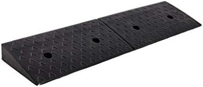 屋内/屋外 7-10CMロードスロープ、ブラックラバーの駐車場のスロープアウトドアレーン歩道ステップマット多機能安全スロープ 車庫アクセサリ (Color : Black, Size : 98*30*10CM)