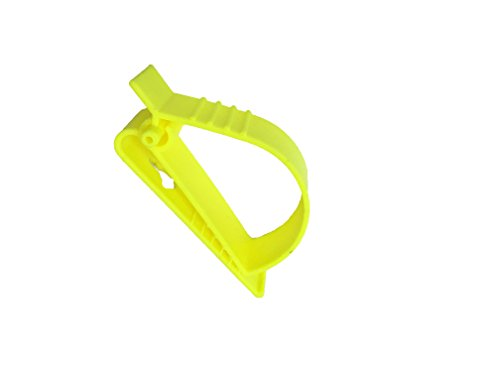 2Pcs Pack Orange and Yellow Sino-Max S002-2YO Belt Hook Glove Clip Carrier Accessory, Utility Catcher Clip Belt Clip Attachment For Gloves,Hard Hats, Ear Muff Clip, Helmets,With Belt Clip by Sinomax (Image #2)