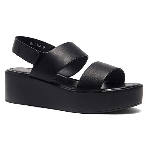 Black Platform Sandals - 5