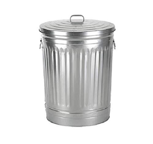 31-Gallon Galvanized Steel Trash Can - Trash can with lid - Galvanized Trash can with lid - Metal Trash can - Outdoor Garbage can with lid -Steel, Gray - Pre-Galvanized Trash Can with Lid Round.