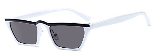 UV400 de top TL sol para Sunglasses sol gafas cuadrado flat negro mujer mujeres gafas Pequeño hombres white de UUq1wZAB