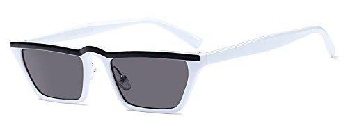 sol Pequeño Sunglasses cuadrado para UV400 TL hombres flat white de top negro gafas sol mujer gafas de mujeres P5HCwwxqS