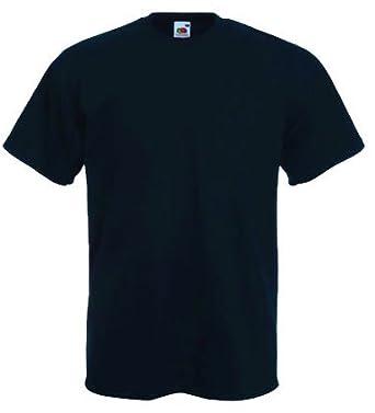 "Fruit of the Loom plain t-shirt Navy blue Medium (38"" - 40 ..."