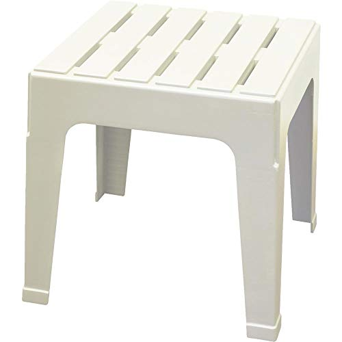 Table Stacking Outdoor - ADAMS MFG PATIO FURN 8090-48-3731 Big Easy White Stack Table