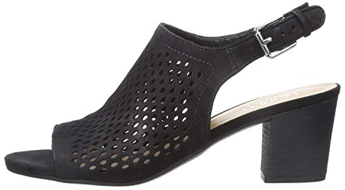 Franco Sarto Womens Harlet2 Suede Peep Toe Casual Slingback, Black Le, Size 8.0