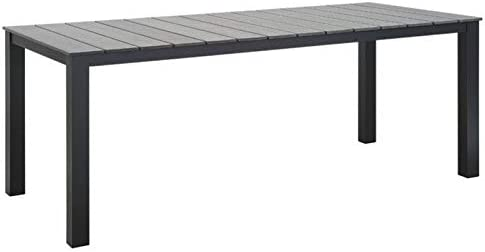 Hawthorne Collection Outdoor Dining Table in Brown and Gray