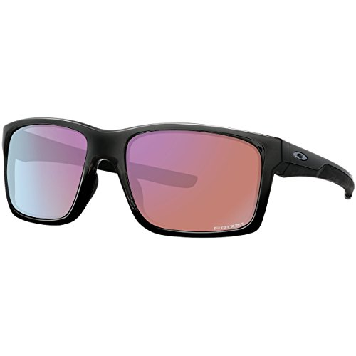 Oakley Men's Mainlink Non-Polarized Iridium Rectangular Sunglasses, Polished Black w/Prizm Golf, 57 - For Oakley Sunglasses Golf
