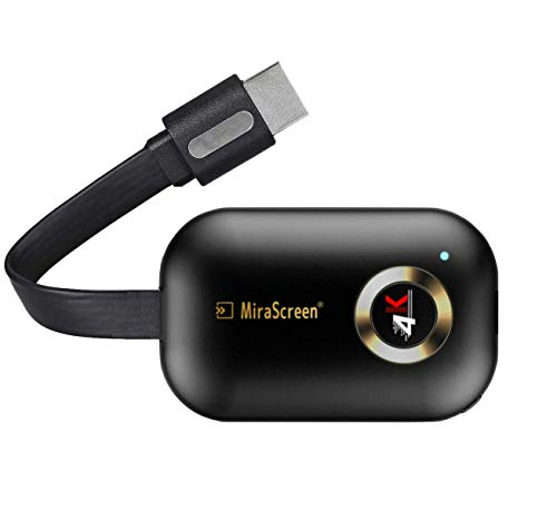 MiraScreen Dongle 4K HDMI-adapter, wifi-display, 2,4 G, Miracast dongle streaming tv-stick voor Android/iOS/Windows…