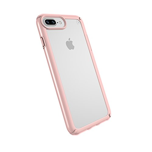 Speck iPhone 8 Plus Presidio Show Case, Show Off Your Phone and Stay Protected with IMPACTIUM 10-Feet Drop Protection, Clear/Rose Gold