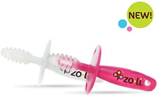 ZoLi Chubby Gummy Gum Massager, Pink/White