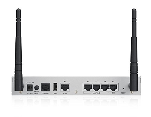 Zyxel ZyWALL UTM Firewall, Blocks Ransomware, Gigabit for Offices, 1-Year Integrated Wireless,
