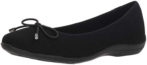 Soft Style by Hush Puppies Women's Heartbreaker Ballet Flat, Black Fabric, 10 M US by Soft Style