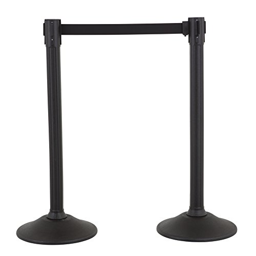 US Weight Sentry Stanchion with 6.5 Foot Retractable Belt – Easy Connect Assembly (2-Pack) -