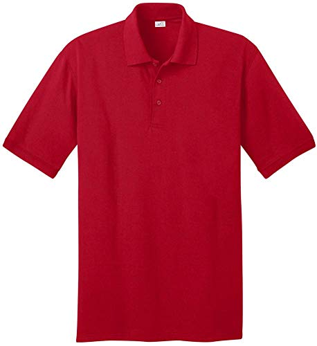 Joe's USA - Men's Tall Polo Shirt in 21 Colors. Tall Sizes: LT-4XLT Red