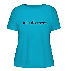 Justicement A Nice Hashtag Misses Cut Womens Short Sleeve T Shirt Aqua Large