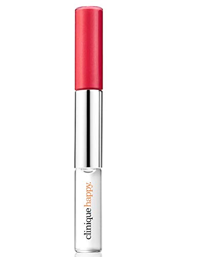 Clinique To Give Fragrance & Lip Gloss Dual-Ended (Happy Perfume Rollerball 0.15oz & Clinique Pop Splash Lip Gloss + Hydration - Rosewater Pop 0.17oz)