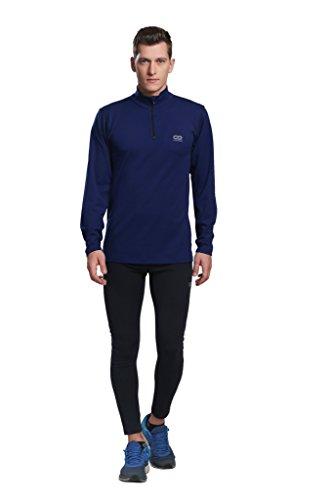 Silvertraq Men's Wicking Sweatshirt / Running / Gym Shirt Long Sleeve Fitted XS-3XL