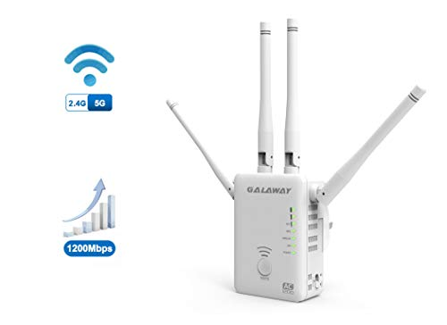 r 4 External Antennas 1200Mbps Wireless Signal Booster with Dual Band 2.4GHz and 5GHz WiFi Range Amplifier with 802.11ac/a/b/g/n Standards ()