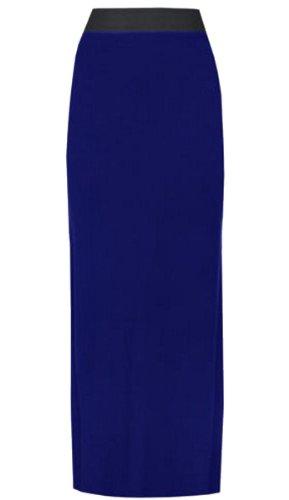 Frauen großer Maxi-Rock elastischer Bund-Streifen dehnbar, Größe 36