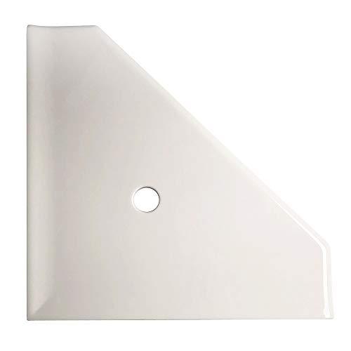 Questech - Estante esquinero para ducha (25,4 cm), 8 pulgadas, Gris Claro