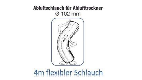 Wäschetrockner Trockner Vent Schlauch 4 METER X 4 100MM wak